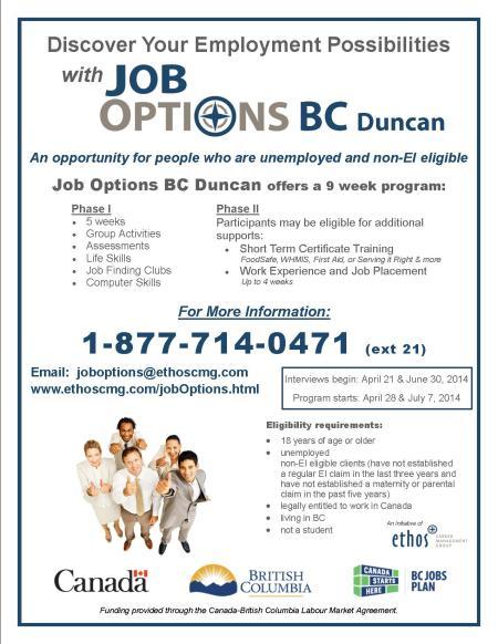 Job Options BC - Duncan